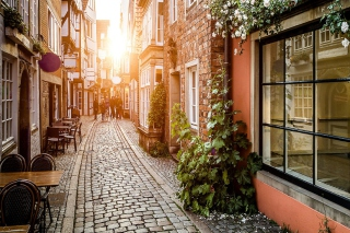Free Old Street In Europe Picture for Android, iPhone and iPad