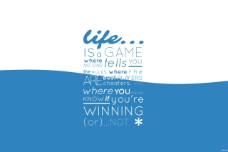 Life Is A Game Background for Android, iPhone and iPad