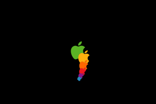 Apple Rainbow Wallpaper for HTC Desire HD