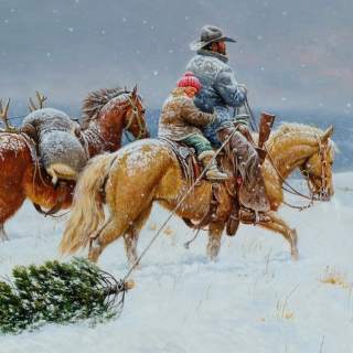 Getting Ready For Christmas Painting - Fondos de pantalla gratis para 1024x1024