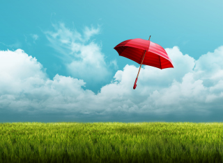 Umbrella On Horizon Picture for Android, iPhone and iPad