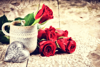 Valentines Day Roses Background for Android, iPhone and iPad