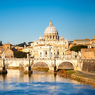 Free Ponte Sant Angelo in Rome Picture for 208x208