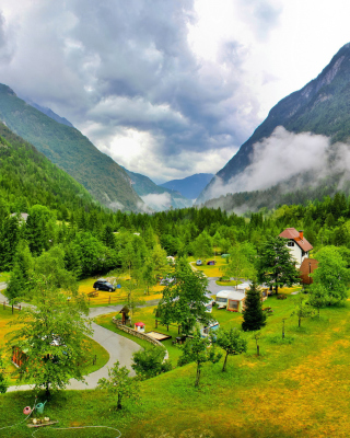 Free Slovenian Mountains Landscape Picture for 240x320