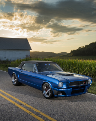 1965 Convertible Mustang Ballistic Ringbrothers Wallpaper for 640x1136