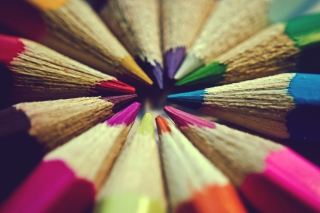 Bright Colors Of Pencils Background for Desktop 1280x720 HDTV