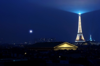 Paris Night Background for Android, iPhone and iPad