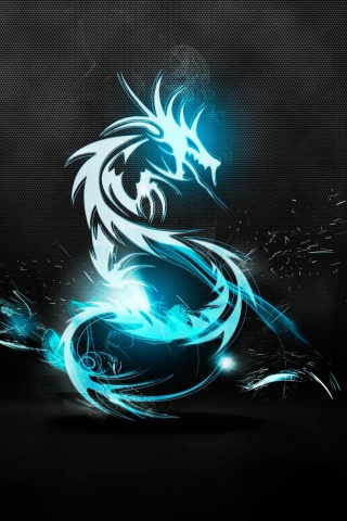 Screenshot №1 pro téma Blue Dragon Symbol 320x480