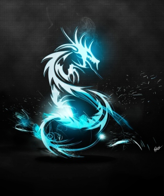Blue Dragon Symbol Wallpaper for Nokia Asha 300