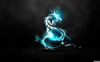 Free Blue Dragon Symbol Picture for 640x480