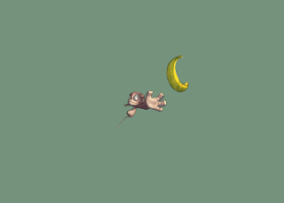 Monkey Wants Banana Wallpaper for Desktop 1280x720 HDTV