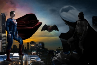 Kostenloses Batman VS Superman Wallpaper für Samsung I9080 Galaxy Grand