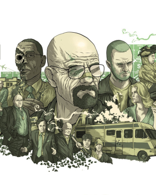 Breaking Bad Illustration sfondi gratuiti per iPhone 4S