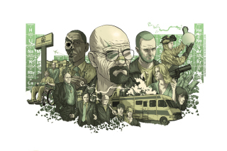 Kostenloses Breaking Bad Illustration Wallpaper für 800x480