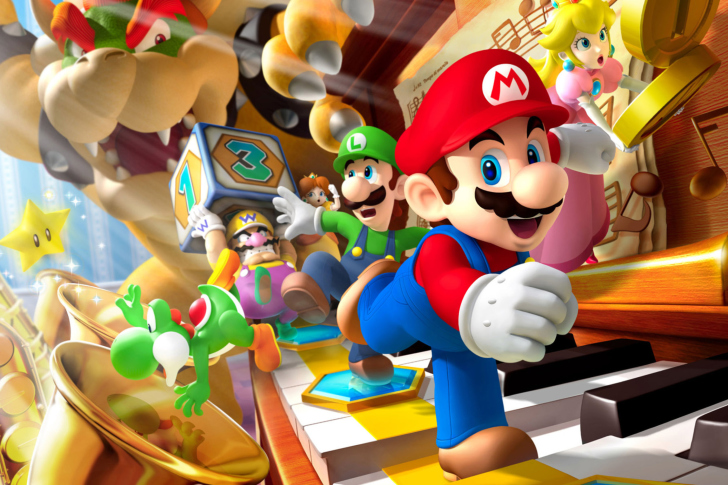 Screenshot №1 pro téma Mario Party - Super Mario