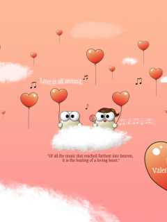 Saint Valentines Day Music wallpaper 240x320