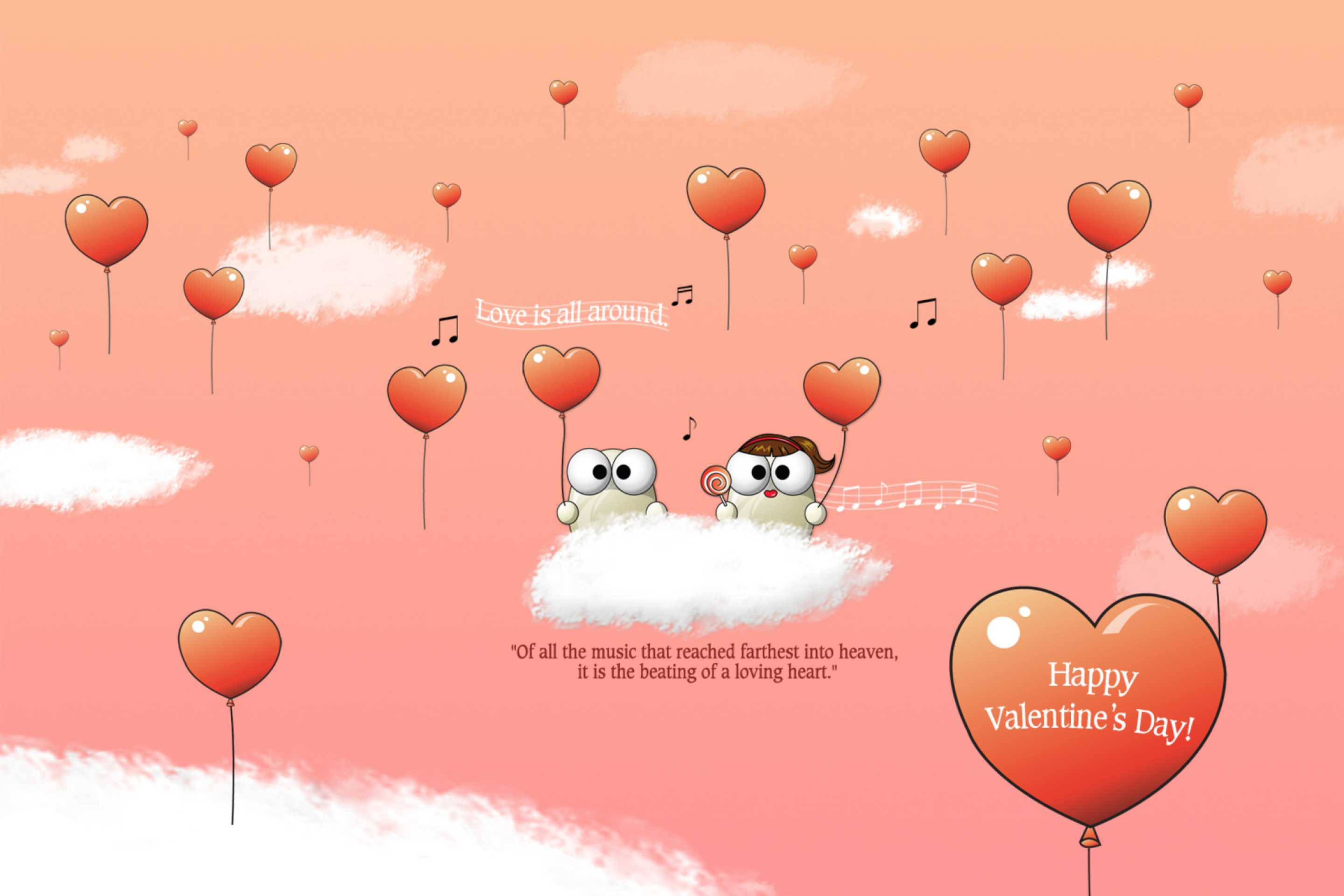 Saint Valentines Day Music wallpaper 2880x1920