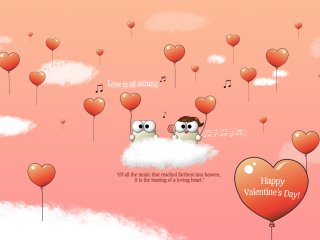 Saint Valentines Day Music wallpaper 320x240