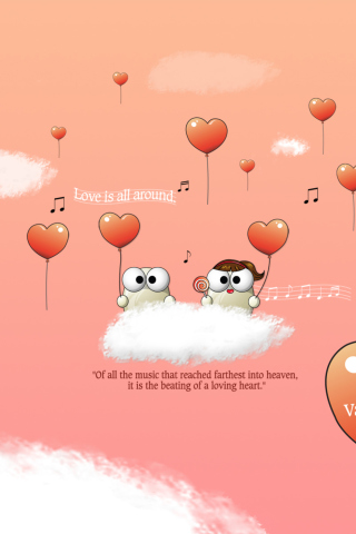 Saint Valentines Day Music wallpaper 320x480