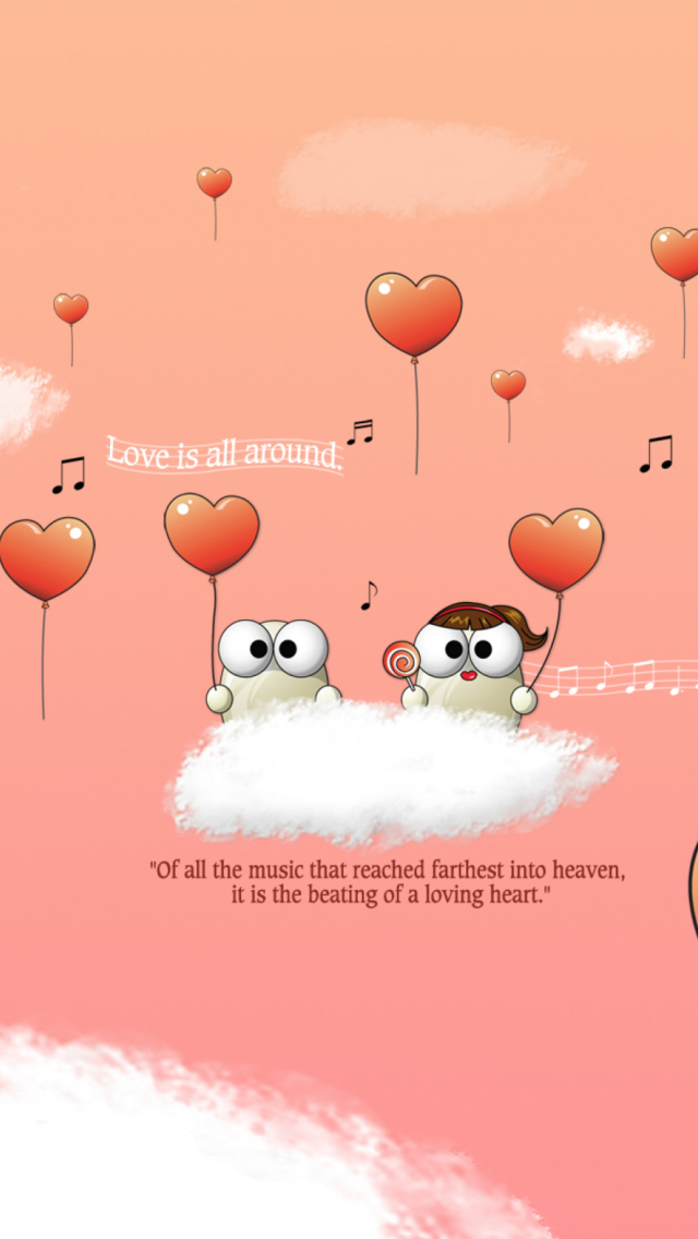 Saint Valentines Day Music wallpaper 640x1136