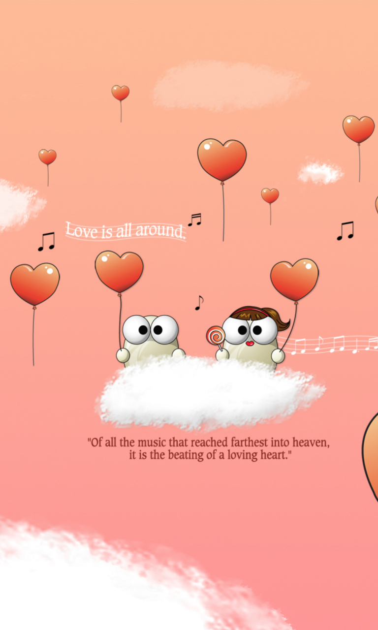 Saint Valentines Day Music wallpaper 768x1280