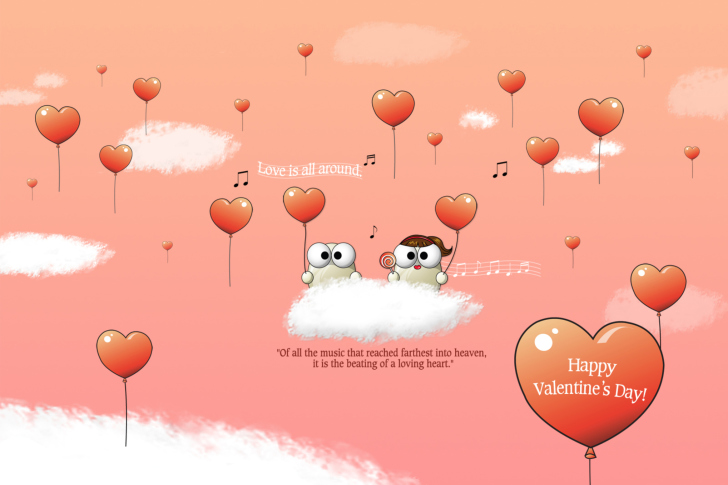 Saint Valentines Day Music wallpaper