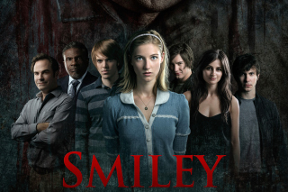 Smiley Horror Film Background for Android, iPhone and iPad