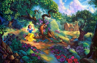 Snow White In Magical Forest Wallpaper for Android, iPhone and iPad