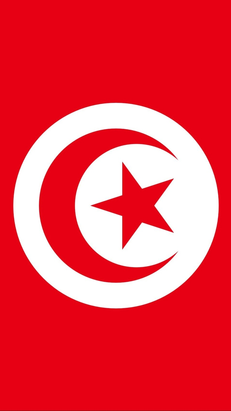 Sfondi Flag of Tunisia 750x1334
