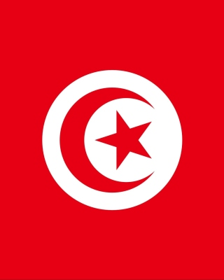 Flag of Tunisia Wallpaper for Nokia 5800 XpressMusic