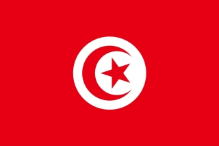 Flag of Tunisia Background for 1366x768
