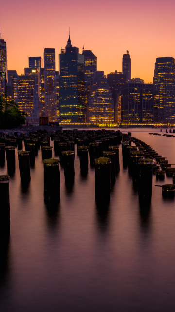 Fondo de pantalla New York City Downtown 360x640