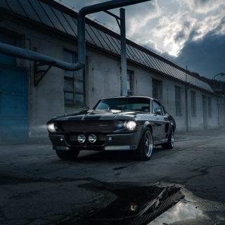 Обои Ford Mustang GT500 Eleanor 1967 для iPad mini 2