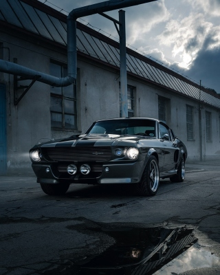 Ford Mustang GT500 Eleanor 1967 Background for Nokia C1-01