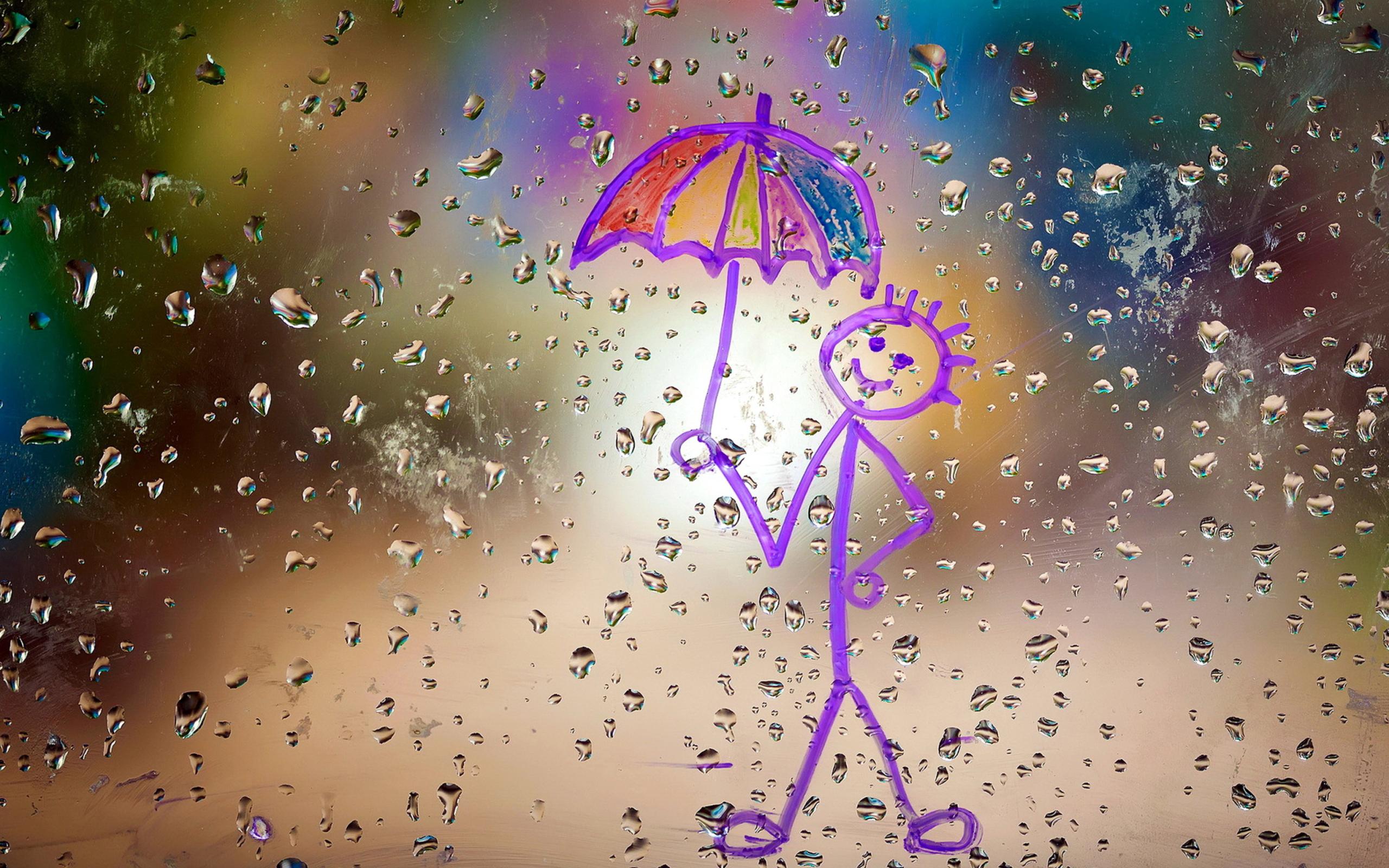Открытки с дождем и шутливыми, открытка новому