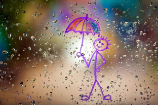 Happy Rain Wallpaper for Android, iPhone and iPad