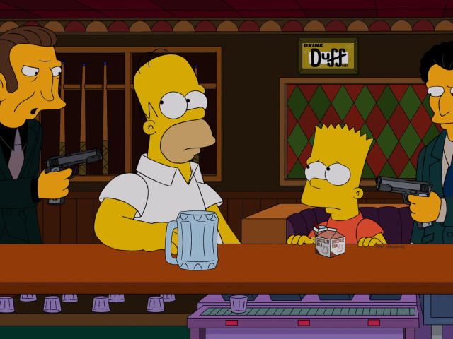 Screenshot №1 pro téma The Simpsons in Bar 640x480