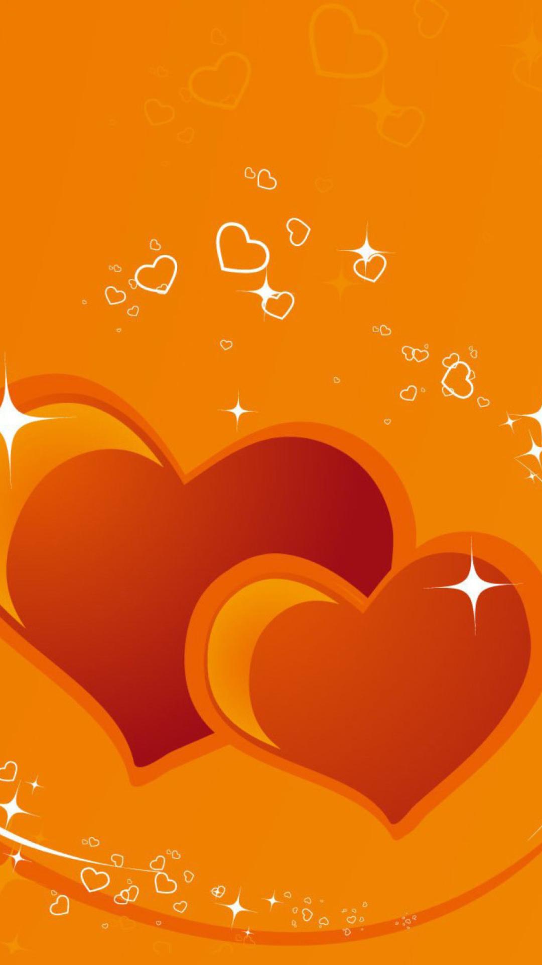 Открытки, картинка с сердечками на телефон
