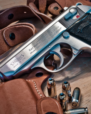 Walther Pistol 9mm Background for Nokia Asha 306