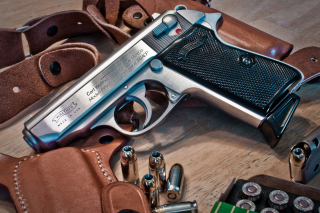 Walther Pistol 9mm Background for Android, iPhone and iPad