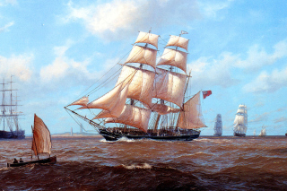 John Steven Dews Marine Painting Picture for Android, iPhone and iPad