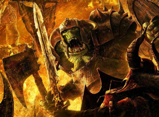 Orc Greenskin Background for LG P700 Optimus L7