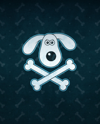 Funny Dog Sign Background for Nokia 5800 XpressMusic