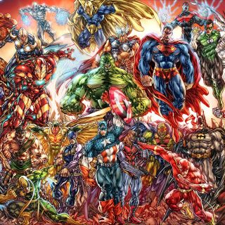DC Universe and Marvel Comics Wallpaper for 208x208