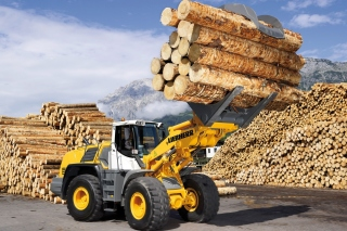 Liebherr Tractor Background for Android, iPhone and iPad