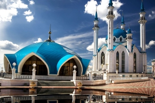Kul Sharif Mosque in Kazan Background for Android, iPhone and iPad