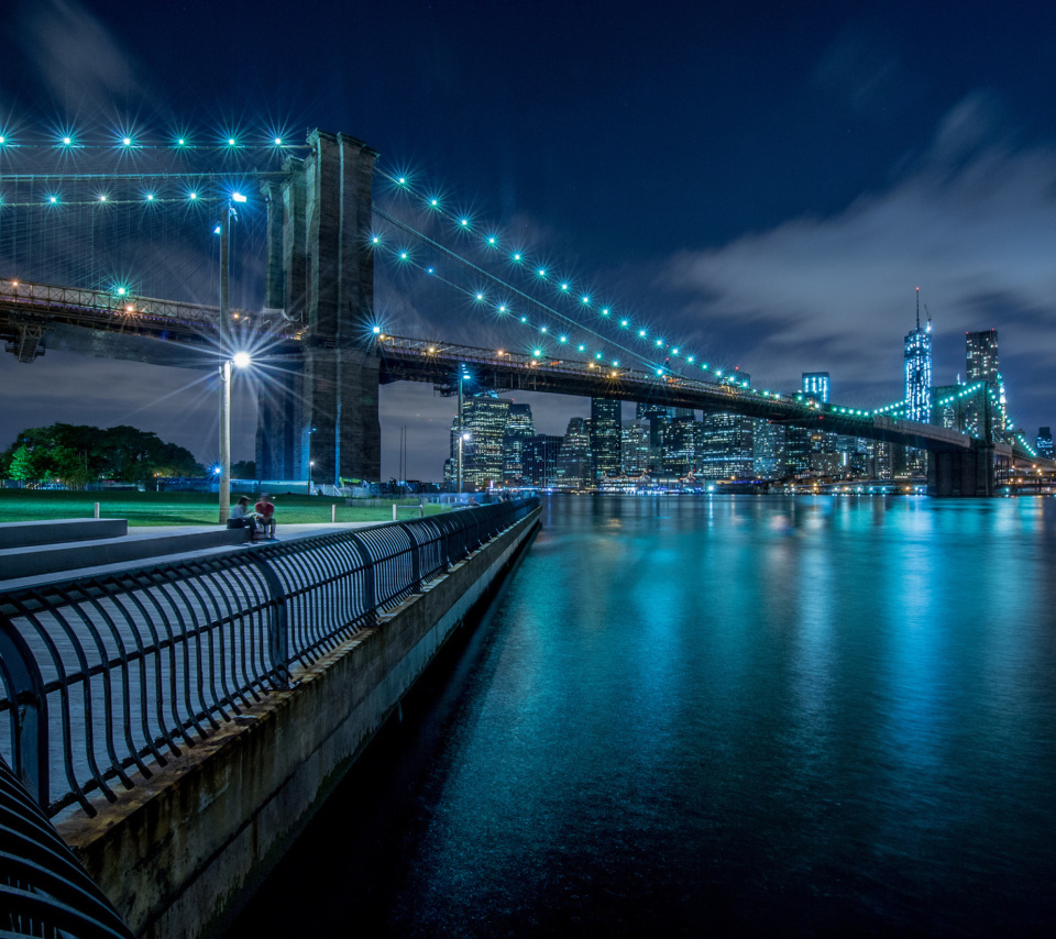 Screenshot №1 pro téma Cable Brooklyn Bridge in New York 960x854