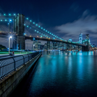 Cable Brooklyn Bridge in New York sfondi gratuiti per iPad