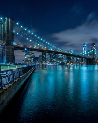 Cable Brooklyn Bridge in New York - Obrázkek zdarma pro 320x480