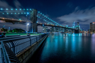 Cable Brooklyn Bridge in New York - Obrázkek zdarma pro Widescreen Desktop PC 1600x900